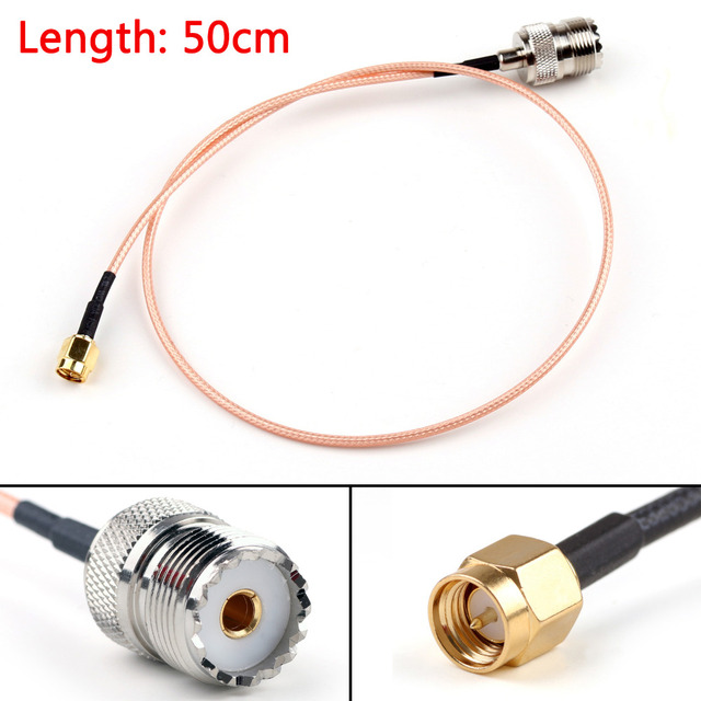 Areyourshop RG316 Cable SMA Male Plug To SO239 UHF Female Jack Straight Pigtail 15cm 50cm 100cm 200cm High Quality Cable  Wires