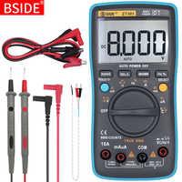 Multímetro digital bside zt301 302 true-rms dc/da voltímetro amperímetro multimetro dmm resistência ohm tampão hz temp tester