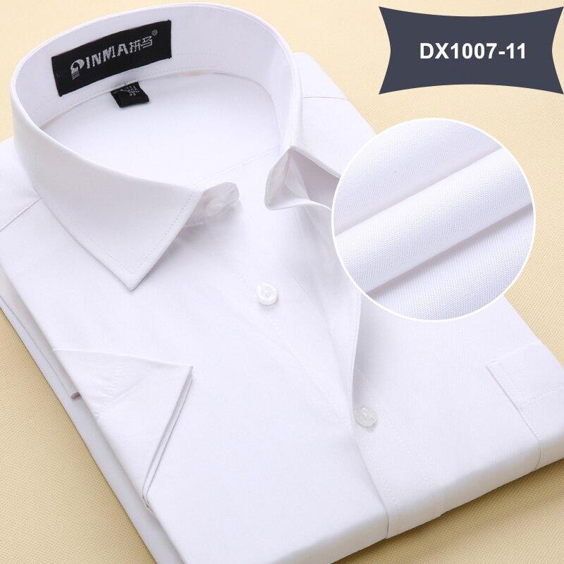 Летняя Стильная мужская одежда, мужская повседневная рубашка с коротким рукавом и отложным воротником, мужские рубашки, одноцветные рубашки для мужчин - Цвет: DX100711