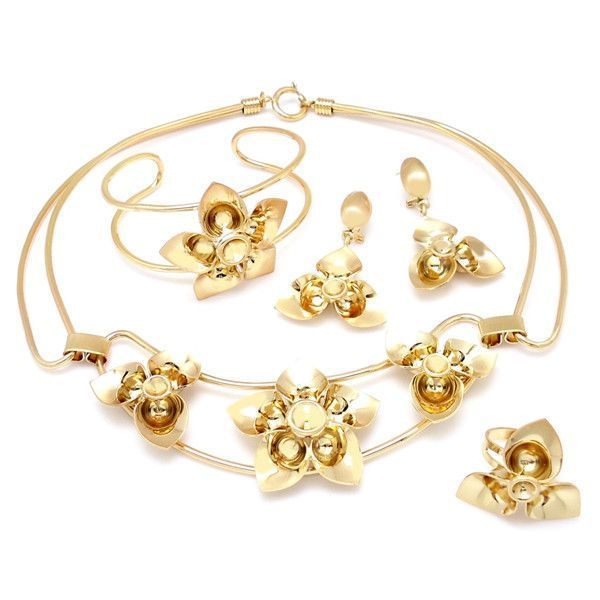 2014 18k gold jewelry half set Pakistani bridal dubai gold jewelry