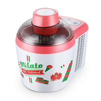 Fuxin Ice Cream Machine Home Automatic Self refrigeration Ice Cream Maker Stainless Steel Square Pan Ice Cream Container