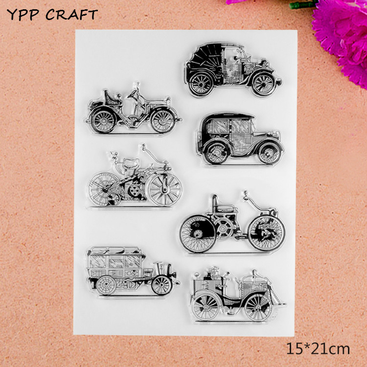 YPP CRAFT Cars Transparent Clear Silicone Stamp/Seal for DIY scrapbooking/photo album Decorative clear stamp about lovely baby design transparent clear silicone stamp seal for diy scrapbooking photo album clear stamp paper craft cl 052