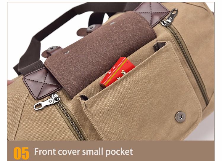 Famous Brand Men Vintage Canvas Men Travel Bags Women Weekend Carry On Luggage & Bags Leisure Duffle Bag Large Capacity Handbags (36)