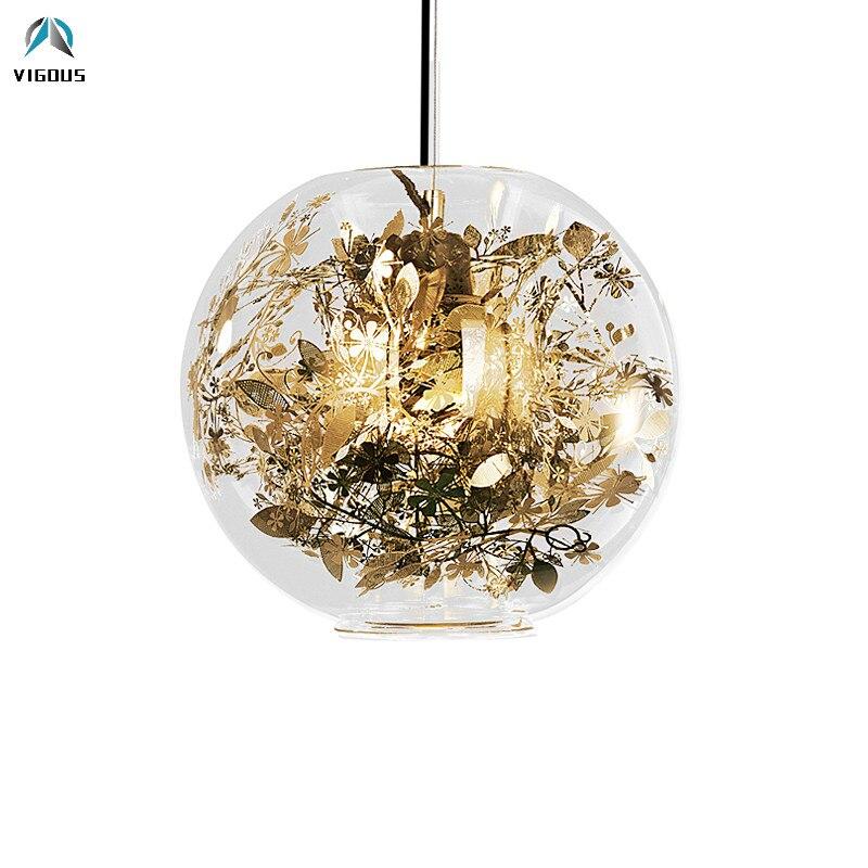 Us 91 44 39 Off Europe Artecnica Tangle Globe Led Pendant Light Re Gl Fish Tank Steel Flower Lamp Indoor Lighting Fixtures In
