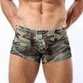 Mens Underwear Boxers Brand Nylon Slips Comfortable Shorts Men Camouflage Mens Panties Penis Funny Boxer Shorts