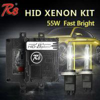 R8 Qualidade Premium Rápido Brilhante de Alta Lumens 55 W HID Xenon Kits de Conversão H1 H3 H7 H8 H11 HB3 HB4 880 Modelos Slim Lastro 5500 K
