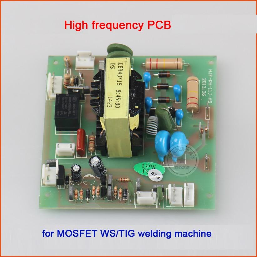 все цены на Argon arc welding machine fire board WS/TIG- 300/315/400 mos tube high voltage arc plate high pressure plate 8:45:80 онлайн
