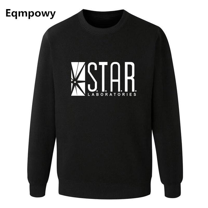 Eqmpowy Flash Barry Allen Star Lab Labs Black Color Mens Sweatshirt Men Novelty hoodies Pullover 2017 Male Clothes Arrow Friend
