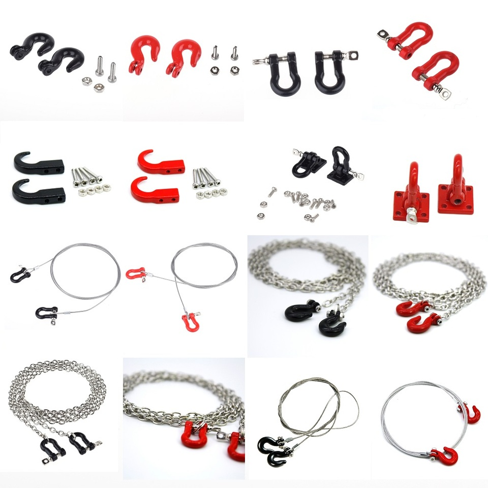 RC Car Parts Metal Trailer Hook Tow Chain Shackle Bracket for 1//10 RC C S5X4 1X