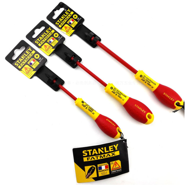 Stanley 1 piece profession grade 1000V voltage VDE insulated screwdriver high torque electrician screwdrivers FatMax 3