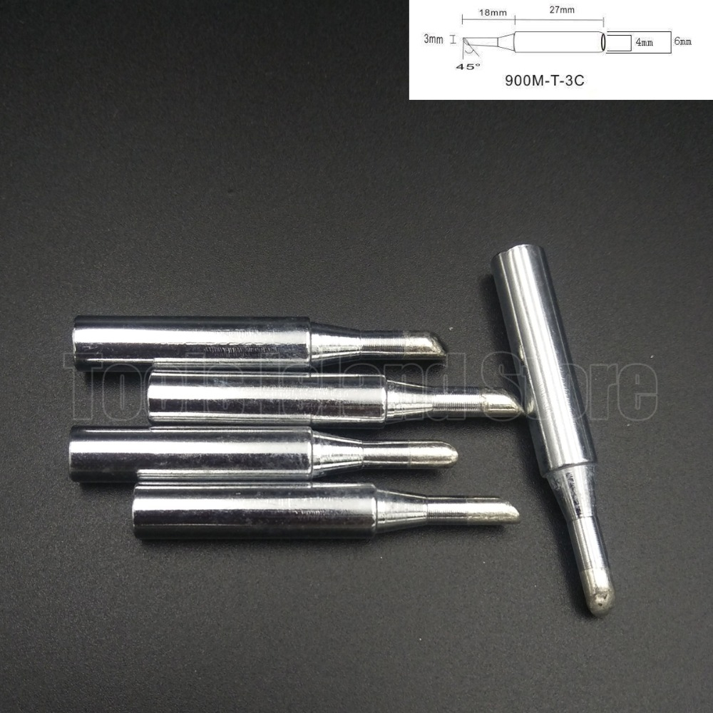 5Pcs Lead-free Replaceable 900M-T-3C Soldering Iron Tips For Soldering Station