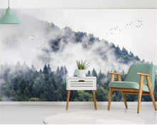 Beibehang  Modern home decoration 3D photo wallpaper ink landscape forest background wall painting mural wallpaper living room 3d nature landscape wallpaper for living room home improvement photo modern wallpaper background wall painting mural silk paper