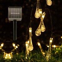 Tira de luces LED solares de 4,8 M y 6M con Sensor de luz resistente al agua para bodas, Navidad, exteriores, decoración de jardín