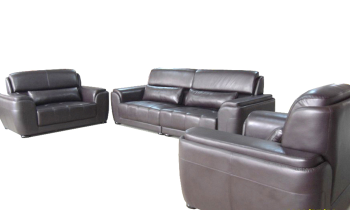 Free Shipping Living Room Sets New Design Classic 123 Large Size Modern Leather Sofa Set High