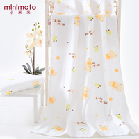 Minimoto Baby Bath Gauze Face Hand Towel Newborn Infant Bamboo Fiber Cotton Wipe Kids Beach Microfiber Wash Cloth Feeding Towels