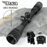 BSA Essential AR 3 9x40 AO Hunting Optics Riflescopes Mil Dot Reticle Shooting Air Gun Rifle Scopes Sight with Metal Lens Cover