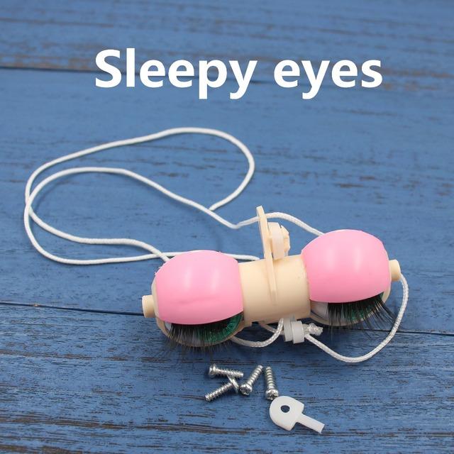 For 1/6 Blyth eyes mechanism New cute pink eyelids can make sleepy eyes with