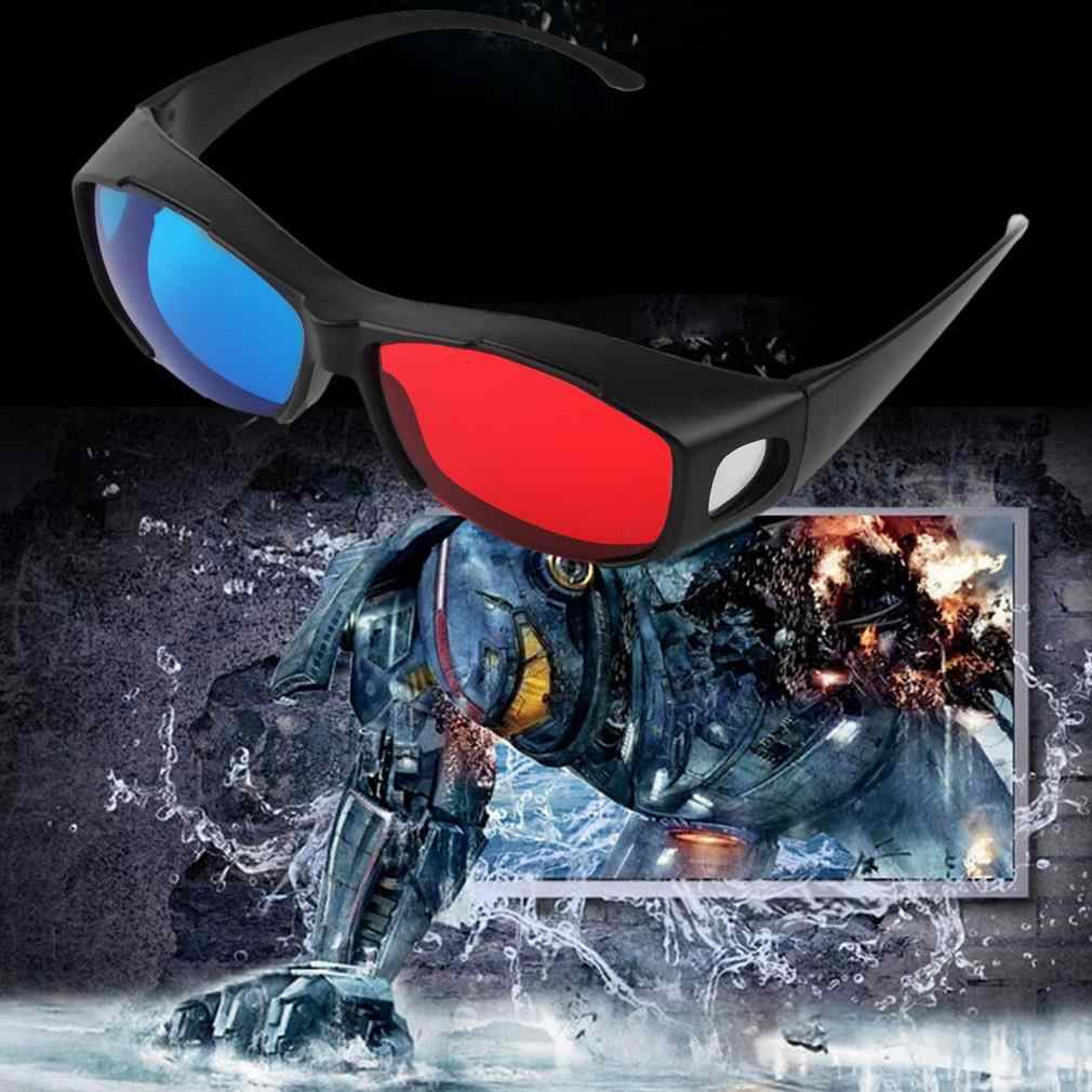 Universal Type 3D Glasses TV Movie Dimensional Anaglyph Video Frame 3D Vision Glasses DVD Game Glass Red And Blue Color dropship