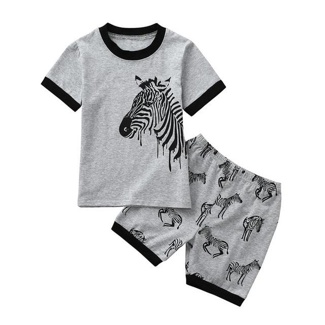 8bd3cf9b62223 2PCS Summer Baby Clothes Baby Girl Sets Infant Toddler Kids Baby Boy Girls  Animal Zebra Print Tops+Shorts Set Clothes JE12#F