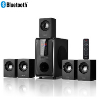 5.1 Channel Home Theater Speaker System,Bluetooth\USB\SD\FM Radio Remote Control Touch Panel,Dolby Pro Logic Surround Sound