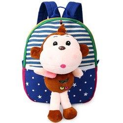 Hot Christmas specjalny prezent torby szkolne dla dzieci Cute Cartoon Monkey Bear plecaki dla niemowląt dla dziewczynki torby dla dzieci w wieku 1-3 lat