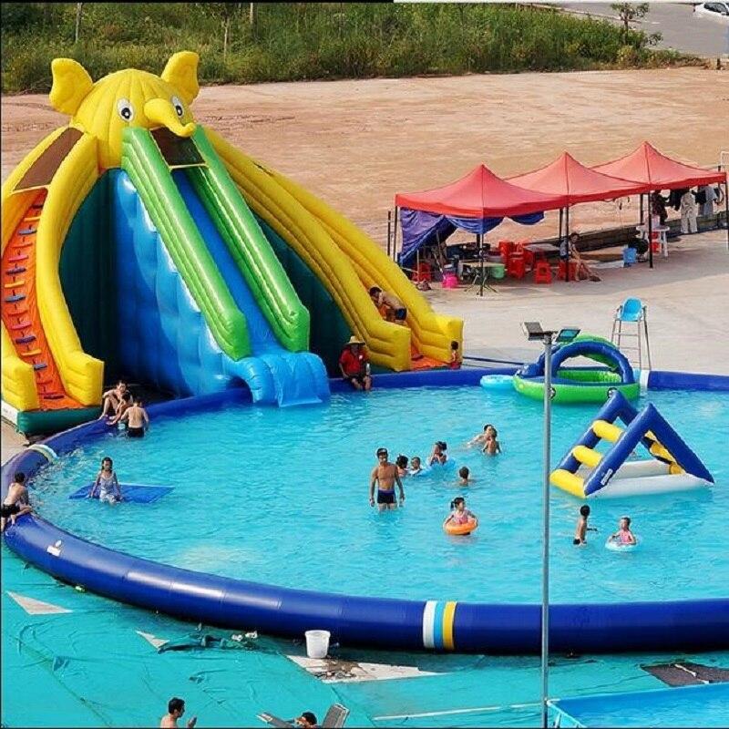 ПВХ надувной слон плавательный бассейн Водный Бассейн водная забавная горка плавательный бассейн комбинация надувная водная горка бассейн