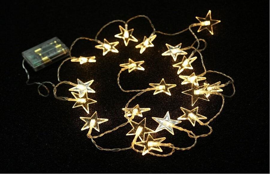 2M 20LED Twinkle Star Stränglampor Batteridriven Nursery Decorations - Festlig belysning - Foto 4