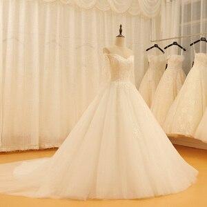 Image 3 - SL 521 ヴィンテージ恋人のレースのアップリケのウェディングドレス 2018