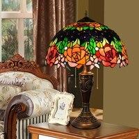 40CM Rose antique creative grape art desk lamp European bar living room bedroom bedside headlamps Table Lamps 110 260V e27