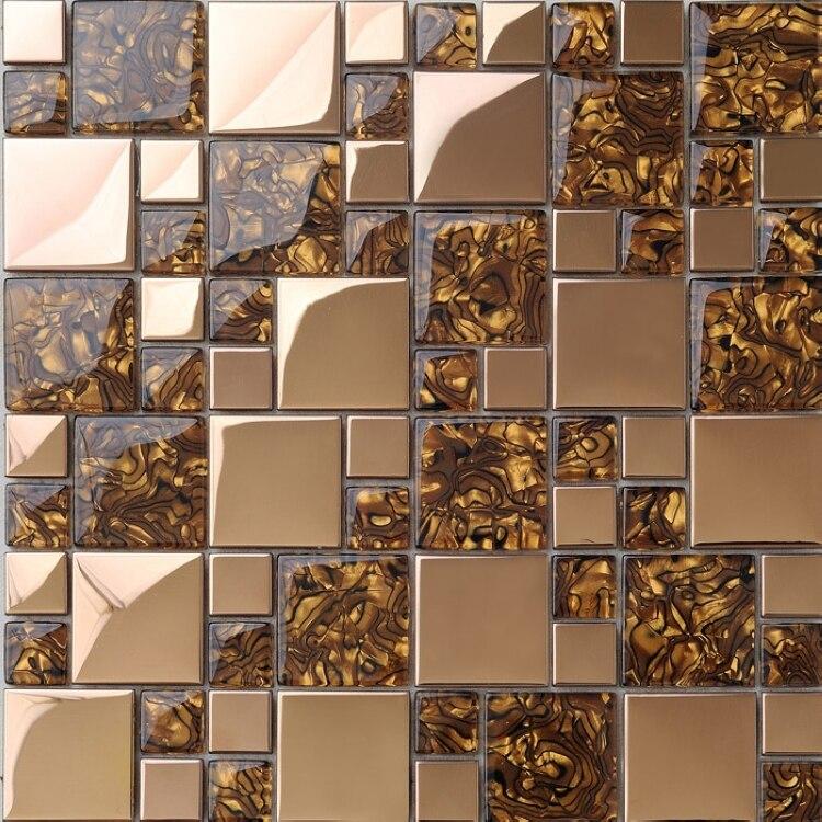 Acquista all'ingrosso Online marrone piastrelle di vetro da ...