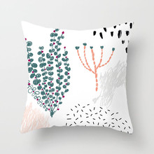 Fuwatacchi Cute Cartoon Plant Cushion Cover Figure Painting Pillow Case Desert Printing for Sofa Car Home Decor Pillowcase