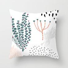 Fuwatacchi Cute Cartoon Plant Cushion Cover Figure Painting Pillow Case Desert Printing for Sofa Car Home Decor Pillowcase