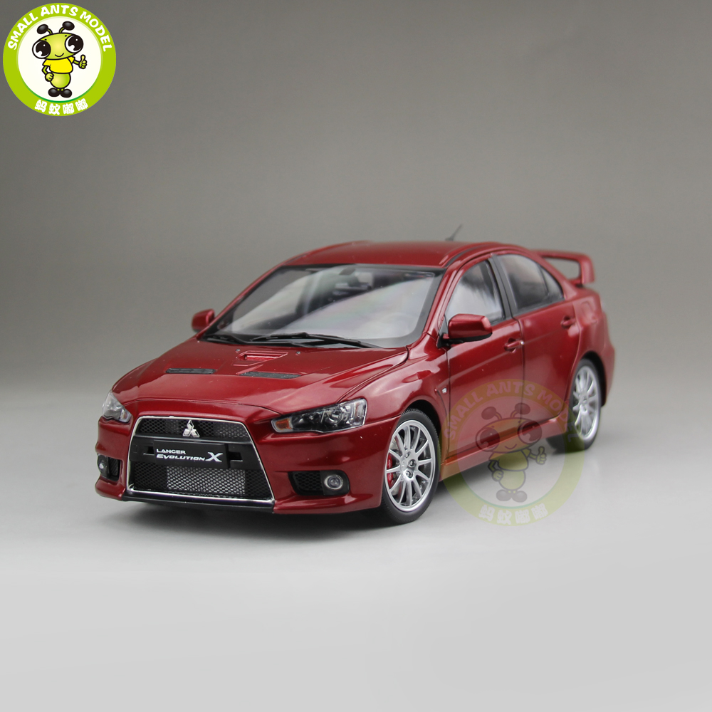 1/18 Mitsubishi Lancer EVO-X EVO X 10 Left Steering Wheel Diecast Metal Car Model Toy Boy Girl Gift Red Color