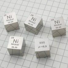 DIY Science 1 шт 10 мм зеркальная полировка никелевый кубик, промежуточная Таблица элементов куб(Ni≥99. 5