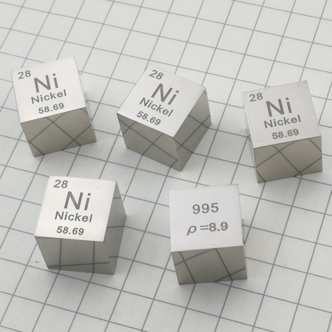 DIY Science 1 Pcs 10mm Mirror Polish Nickel Cube Periodic Table Of Elements Cube(Ni≥99.5%)