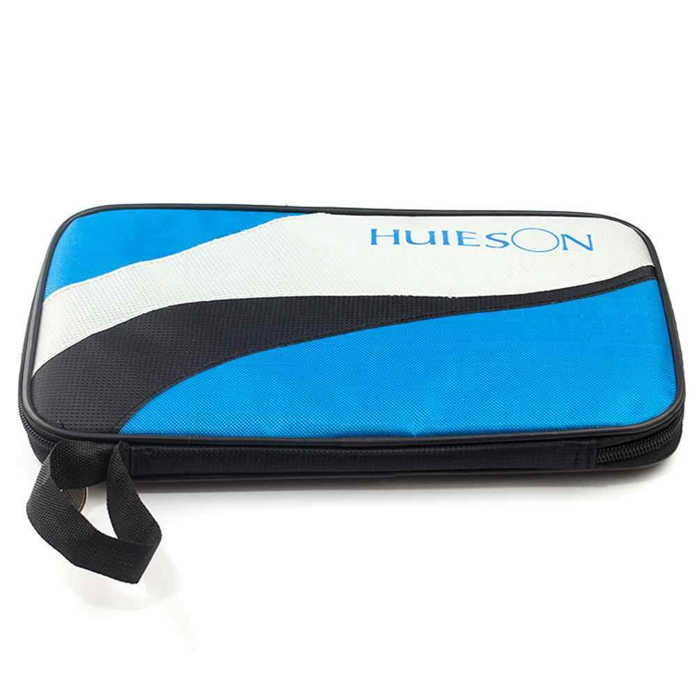 Rectangle Oxford Cloth Table Tennis Bag For Racket Lightweight Ping Pong Paddle Bat Container Case Blue Patchwork Color