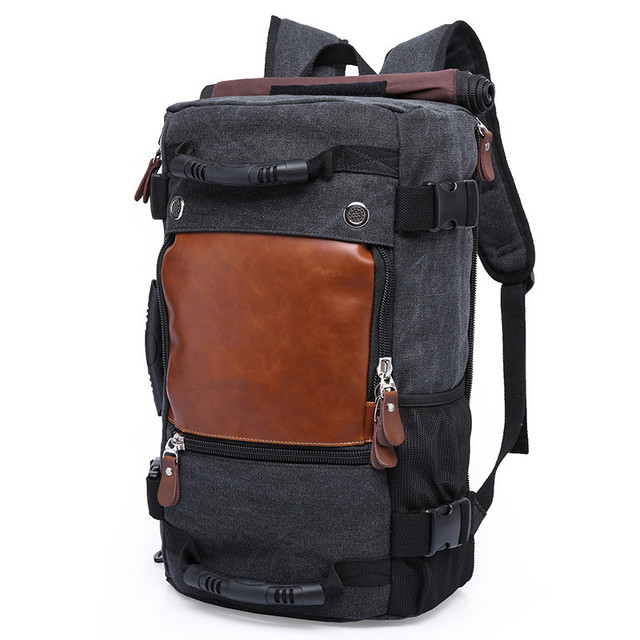 b62e11dca925 Brand Men Backpack Large Capacity Travel Bag Male Luggage Canvas backpack  Shoulder Computer Backpacking Functional Laptop