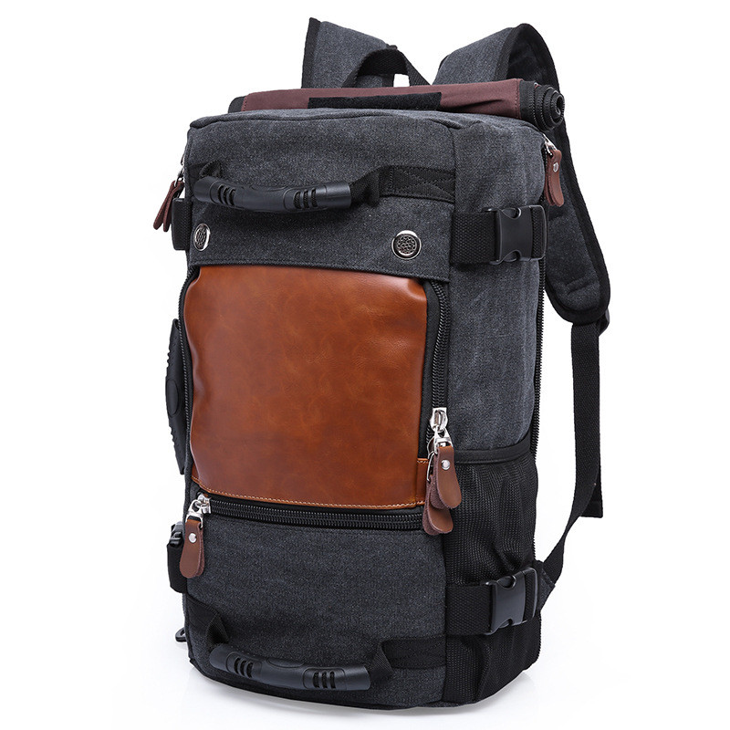 KAKA Brand Men Backpack Large Capacity Travel Bag Male Luggage Canvas backpack Shoulder Computer Backpacking Functional Laptop brand stylish travel backpack for men canvas luggage bag casual large capacity shoulder laptop backpacks teenagers travel bag