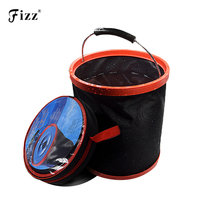 Oxford 2000D Fabric PVC Coated Waterproof Folding Bucket For Outdoor Fishing Camping Car Wash Fishing Tackle