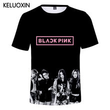 KELUOXIN Summer 3D T Shirt Women Men KPOP BLACKPINK BOOMBAYHA Short Sleeves O-Neck T-Shirt Korean Group Girls Tops Tee Camisetas(China)