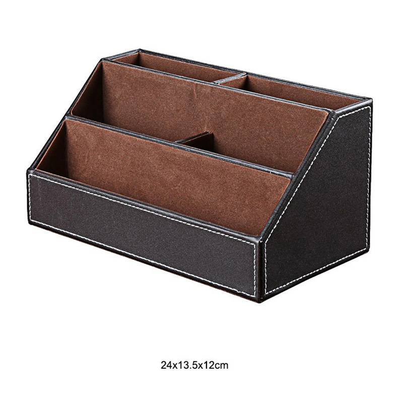 Из искусственной кожи с настольной подставкой косметический уход за кожей макияж организатор настольная подставка для ручек аксессуары для хранения сетки контейнер подарки коробка чехол
