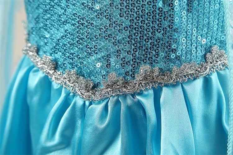 HTB14prSXbZnBKNjSZFGq6zt3FXa5 Girls Elsa Dress Costume Princess Anna Dresses Cosplay Party Summer Baby Kids Children Fancy Baby Girl Clothes elza vestidos