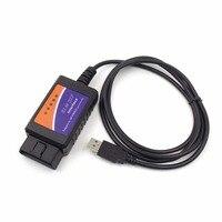 자동차 자동 진단 인터페이스 스캐너 obd2 elm327 v1.5 usb 스캐너 자동차 감지기 진단 도구