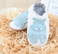 New Brand Fashion Baby Shoes Genuine Leather Soft Sole Skid Proof Cute Pattern Kids Boy Toddler