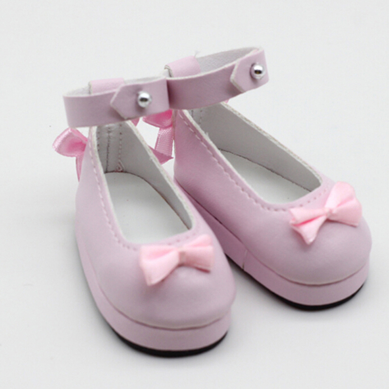 New Arrival Mini Dolls Shoes 6cm PU Leather Shoes For Dolls 1/6 BJD Doll Giant Baby Accessories