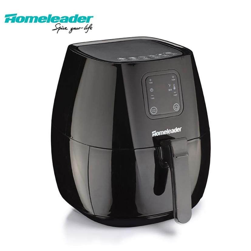 Homeleader eléctrica aire freidora sin aceite freidora pantalla LCD cocina electrodomésticos máquina de aire sin aceite con gran capacidad