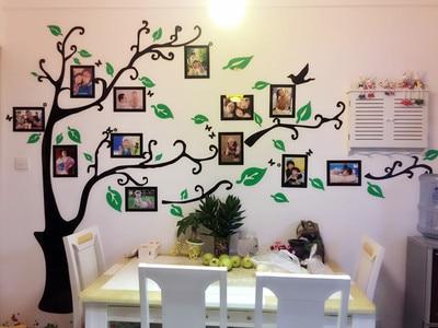 Nueva llegada foto de familia del rbol papel pintado para - Tv en la pared ...