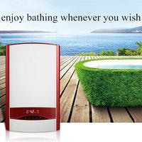 7500 Вт нагреватель Электрический Душ с цифровой светодиодный userinterface для ванной раковины мгновенная течет горячая вода питания