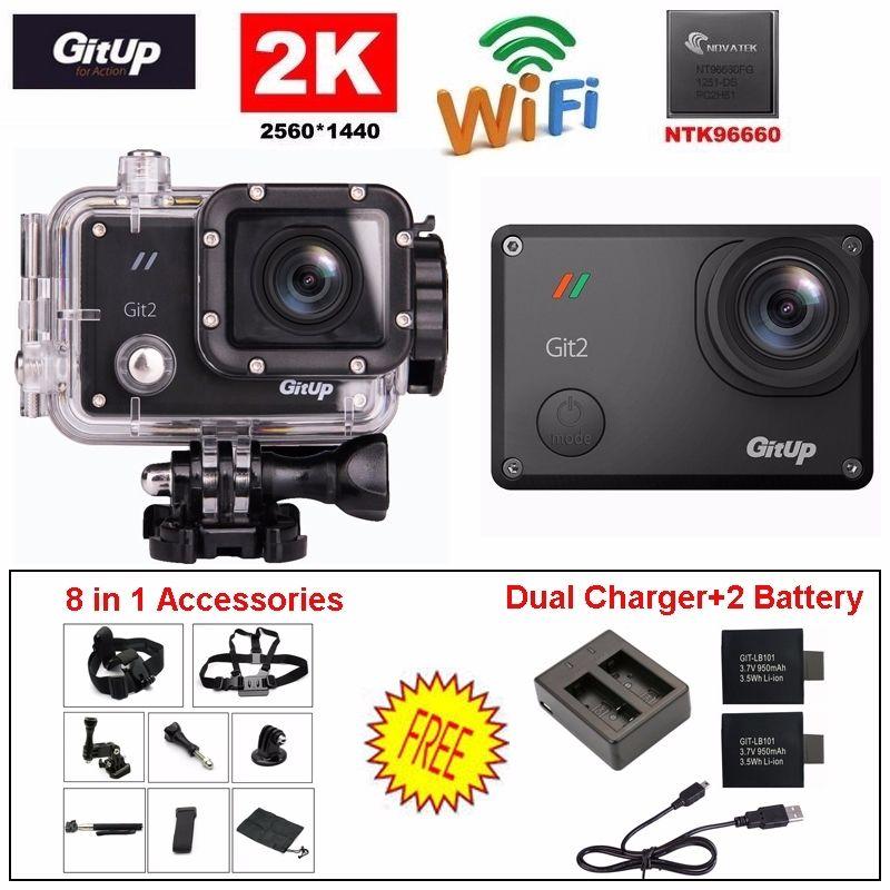 Free Shipping Gitup Git2 Pro 1080P WiFi 2K Sport Action Helemet font b Camera b font