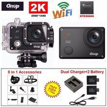 El Envío Gratuito! Gitup Git2 Pro 1080 P WiFi 2 K Cámara DV Al Aire Libre Acción Del Deporte Helemet + Cargador Doble + 2 Batería + 8in1 Accesorios
